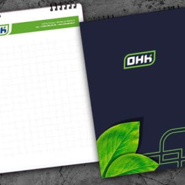 Дизайн блокнотов с логотипом