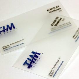 Дизайн прозрачных визиток