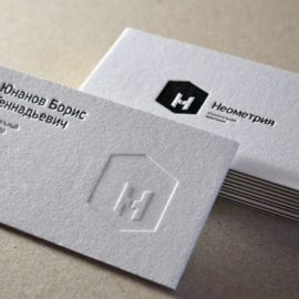 Дизайн визиток с конгревом