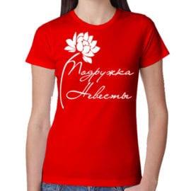 Красная футболка с печатью