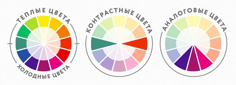 Выбор цвета по таблице цветов