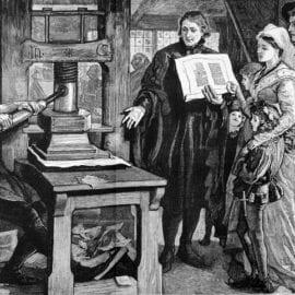 Старинный способ печати
