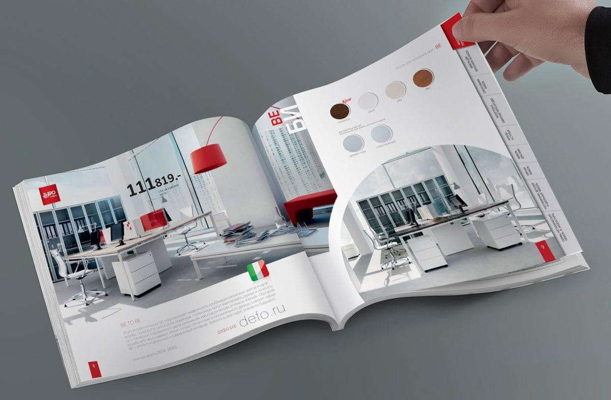 Хорошее качество печати каталога при больших тиражах офсетной печатью