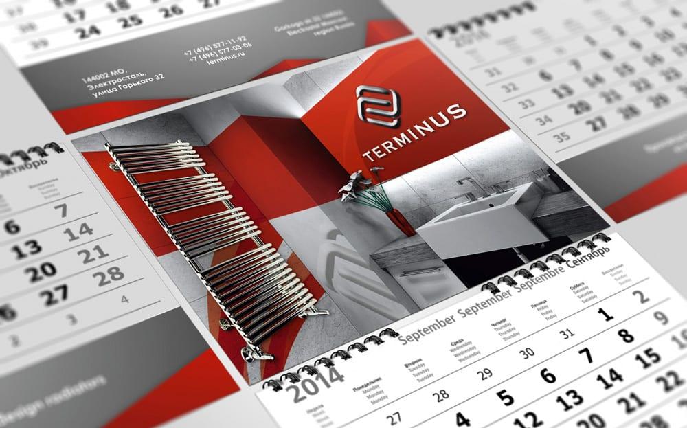 Печать календарей с логотипом