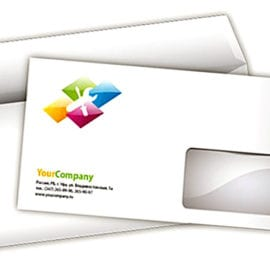 Печать конвертов с окном