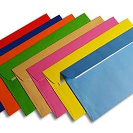 Печать конвертов на цветной бумаге