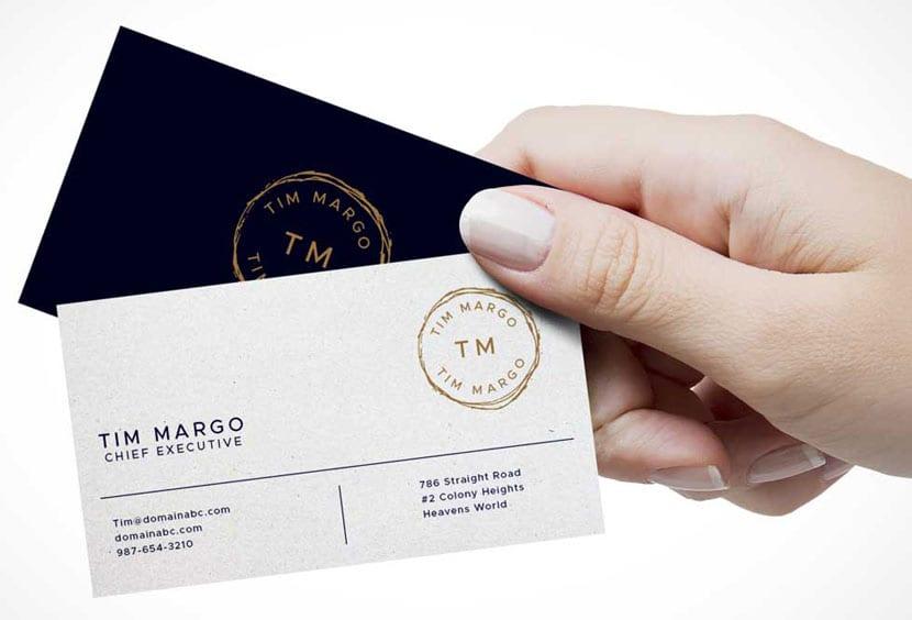 Сдержанный дизайн корпоративной визитки