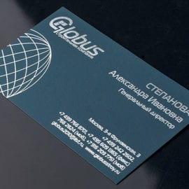 Изготовление визиток на бумаге Тач Кавер