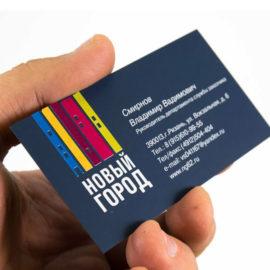 Печать визиток на бумаге Тач Кавер