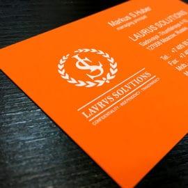 Печать визиток с шелкографией