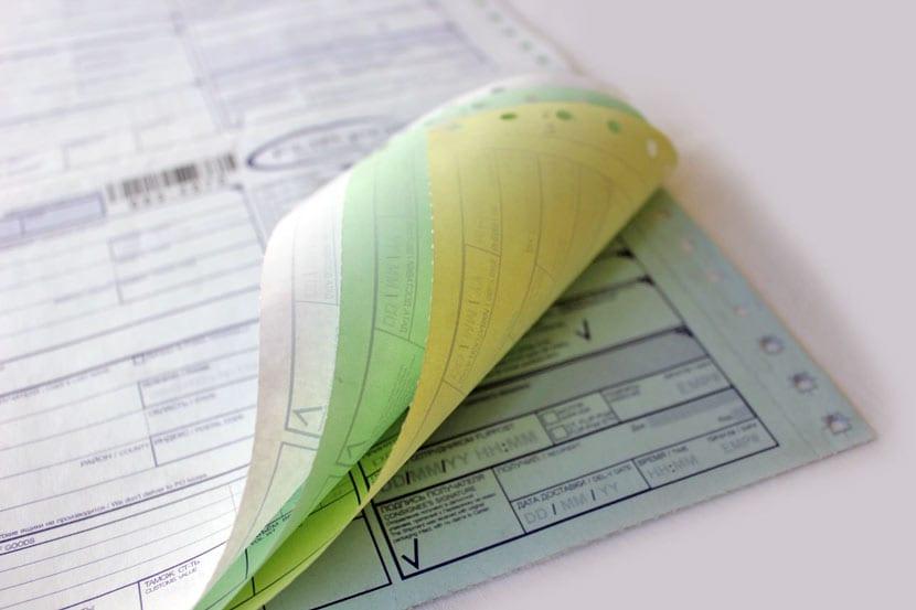 Печать бланков на самокопирующейся бумаге
