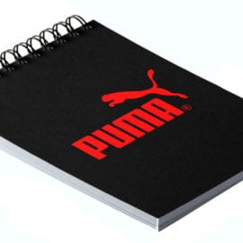 Печать блокнотов с логотипом, шелкографией на дизайнерской бумаге