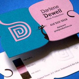 Печать визиток с вырубкой