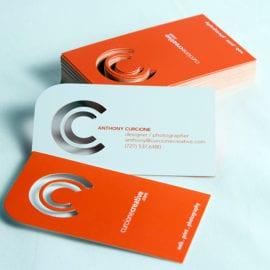 Печать визиток с вырубкой лого