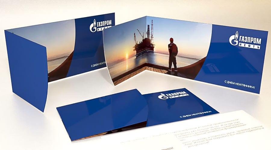 Печать открыток с логотипом и соблюдением фирменных цветов