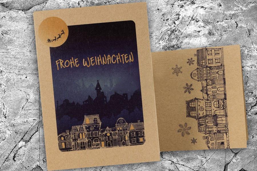 Печать открытки А6 на бумаге крафт