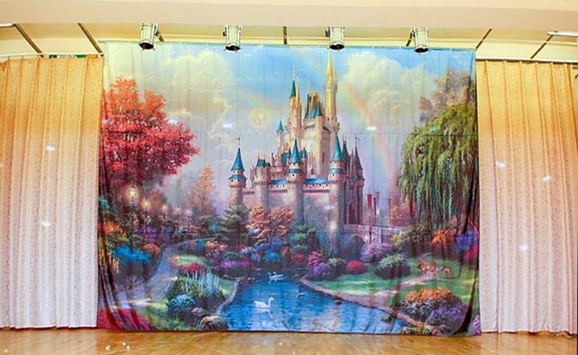 Интерьерная печать на баннерной ткани
