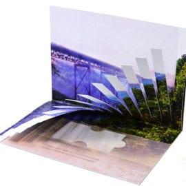 Печать фирменных открыток с вырубкой
