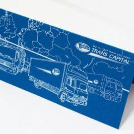 Печать открытки для транспортной компании