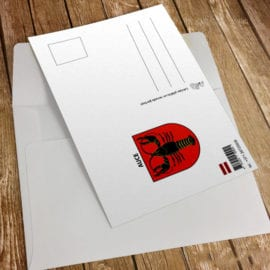 Дизайн фирменных открыток с логотипом