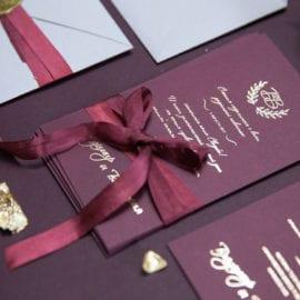 Печать красивых приглашений с лентой
