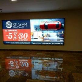 Печать рекламы на транслюцентных баннере