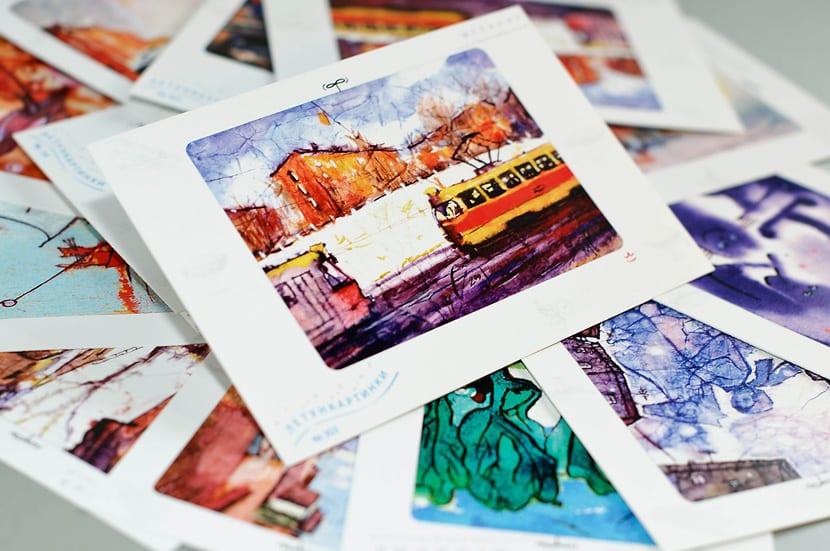 Дизайн почтовой открытки на плотной бумаге