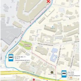 Схема проезда от станции метро «Электрозаводская»