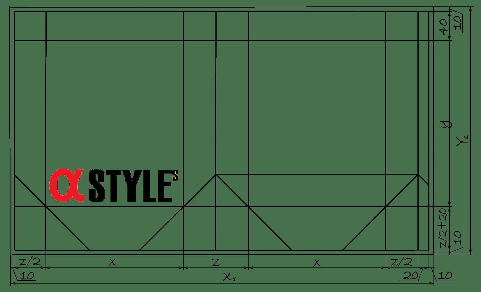 Схема бумажного пакета