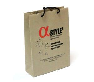 Бумажный пакет с плоским дном
